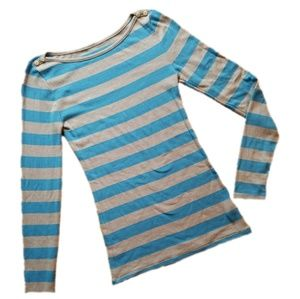 NWOT Old Navy Striped Long Sleeve Boat Neck Top